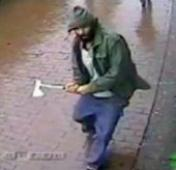 Axe man attacks New York policemen
