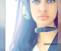 Navya Naveli Nanda enjoys a helicopter ride