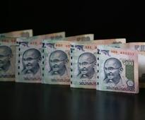 Rupee falls by another 34 paise to 63.88