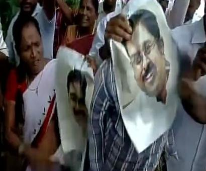 AIADMK supporters protest