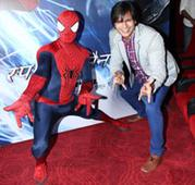 Spiderman Surprised Vivek Oberoi all the way from Hollywood