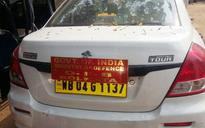 Six men detained in Kolkata for using army car sticker