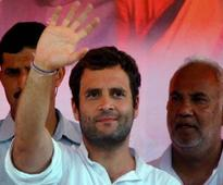 First public appearance in two months: Rahul Gandhi meets farmers ahead of Kisan rally